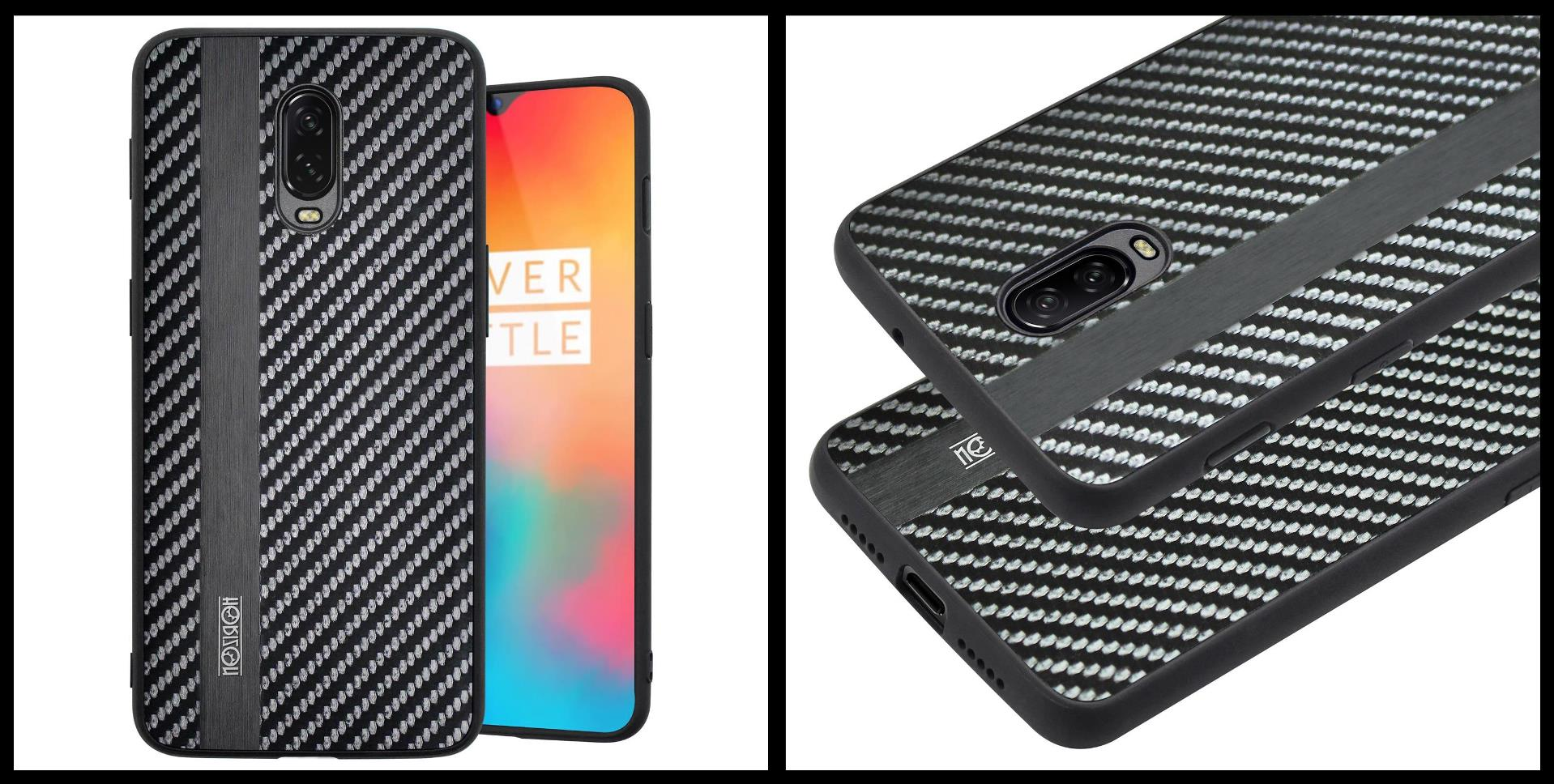 noziroh-carbon-oneplus-6t-cover-case-shockproof-dark-design-black