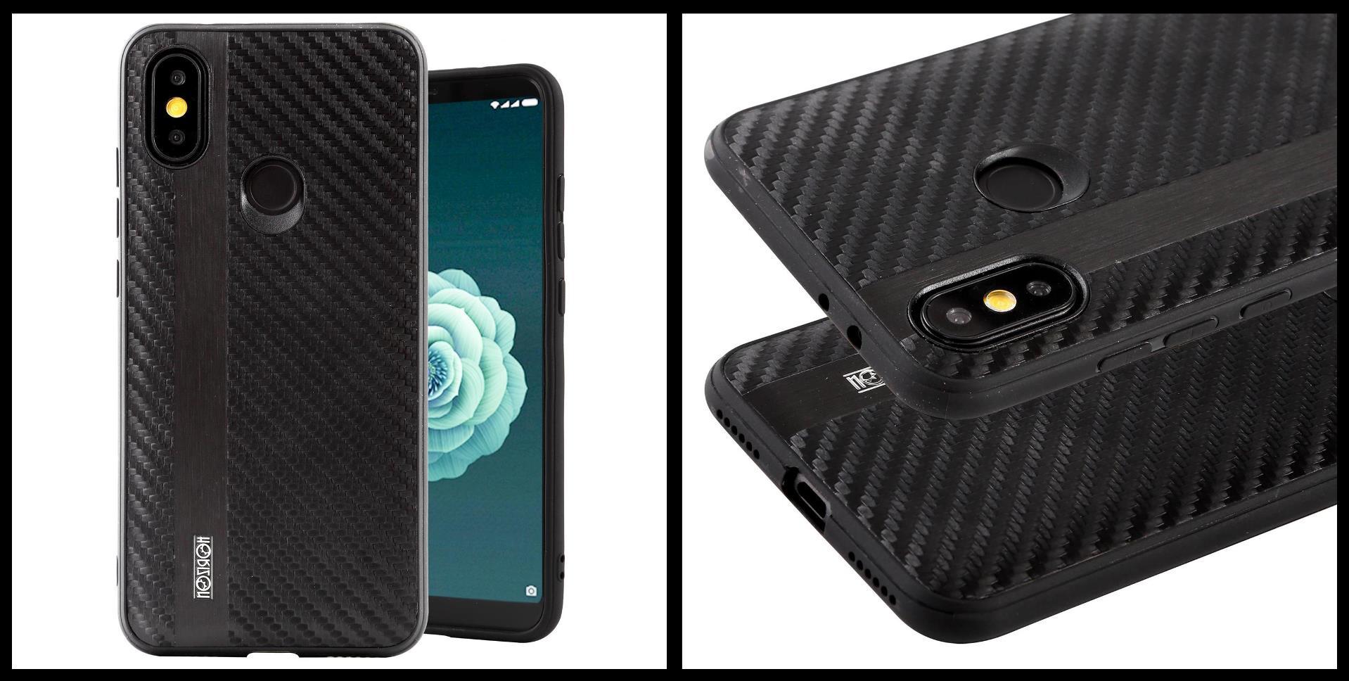 noziroh-carbon-xiaomi-mi-a2-mi6x-cover-case-shockproof-dark-design-black