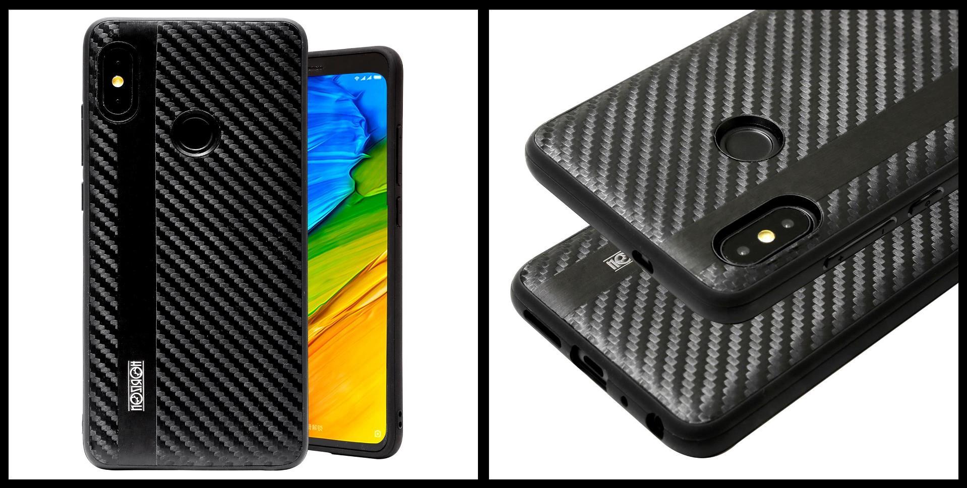 noziroh-carbon-xiaomi-redmi-note-5-pro-cover-case-shockproof-dark-design-black