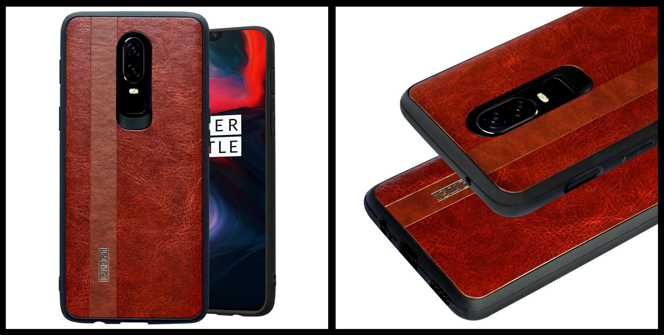 noziroh-leather-oneplus-6-cover-case-shockproof-slim-design-brown-black