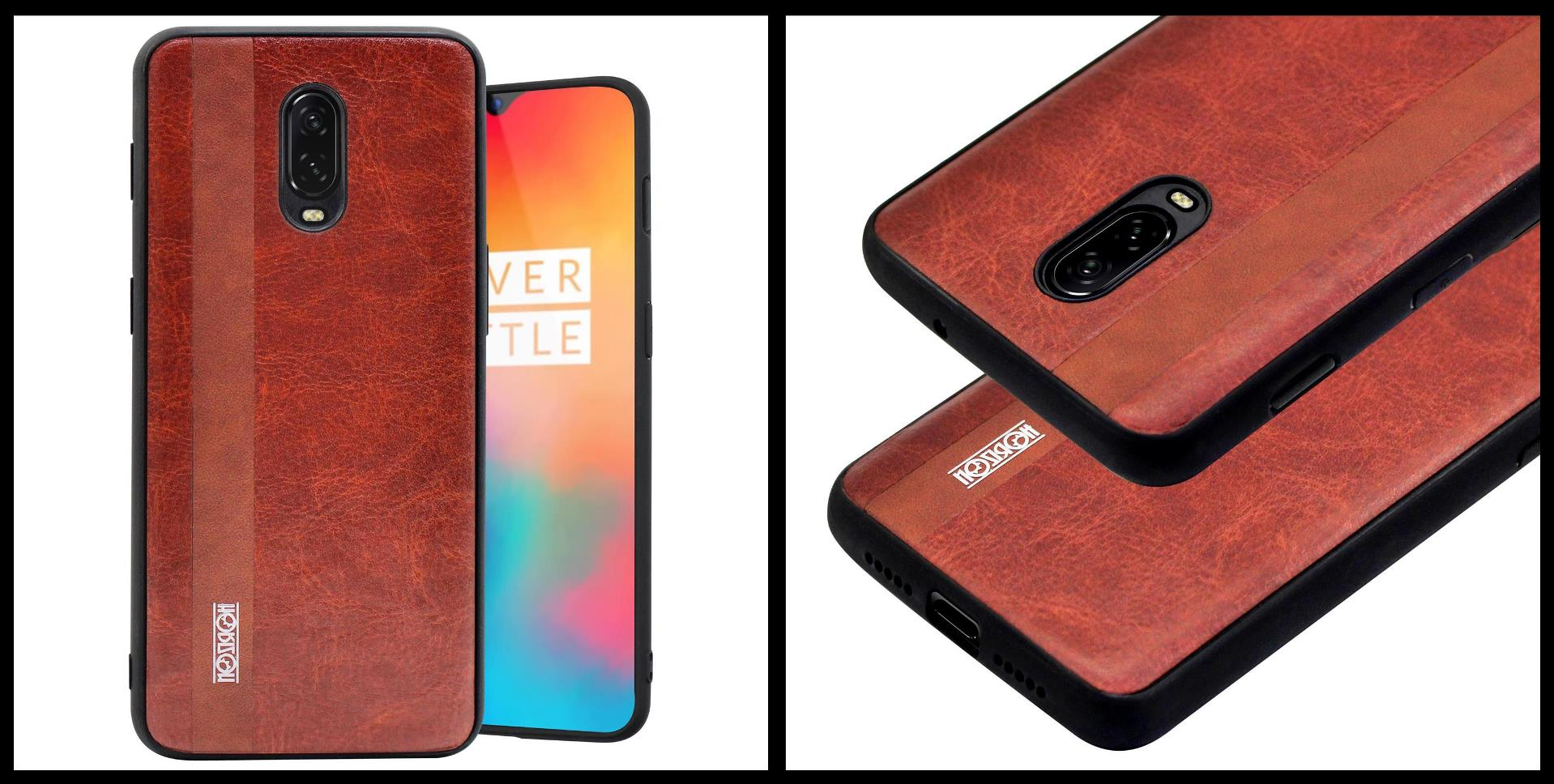noziroh-leather-oneplus-6t-cover-case-shockproof-slim-design-brown-black