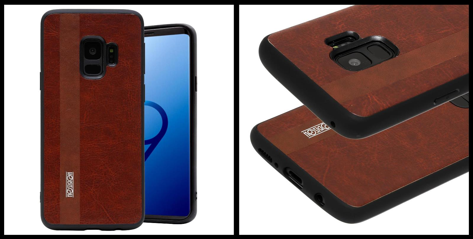 noziroh-leather-samsung-galaxy-s9-cover-case-shockproof-slim-design-brown-black