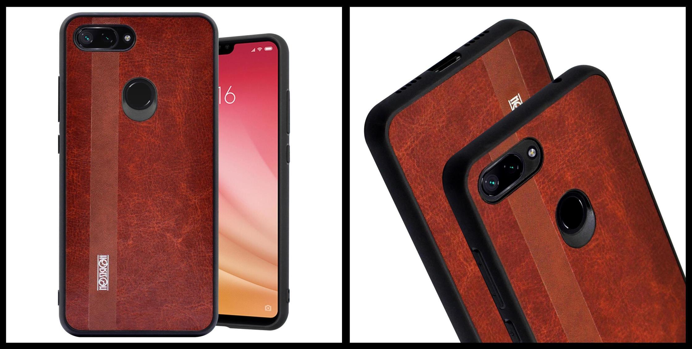 noziroh-leather-xiaomi-mi-8-lite-youth-cover-case-shockproof-slim-design-brown-black