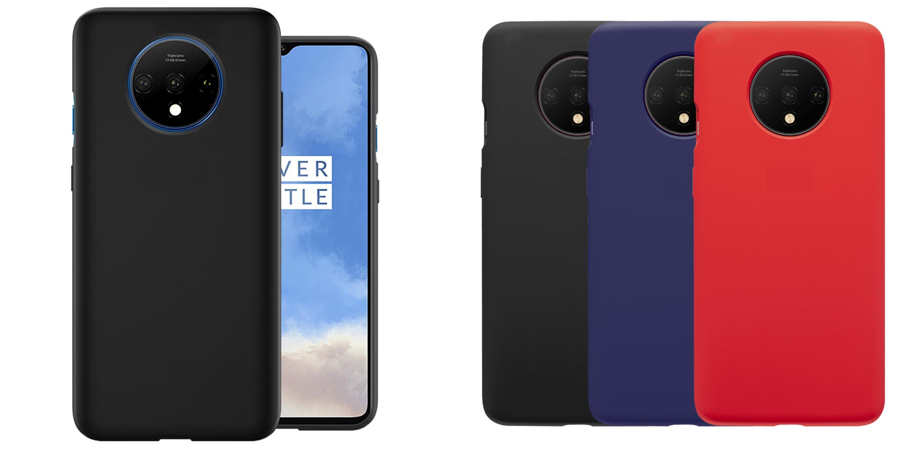 noziroh rubber oneplus 7t cover case liquid silicone slim design black blue red