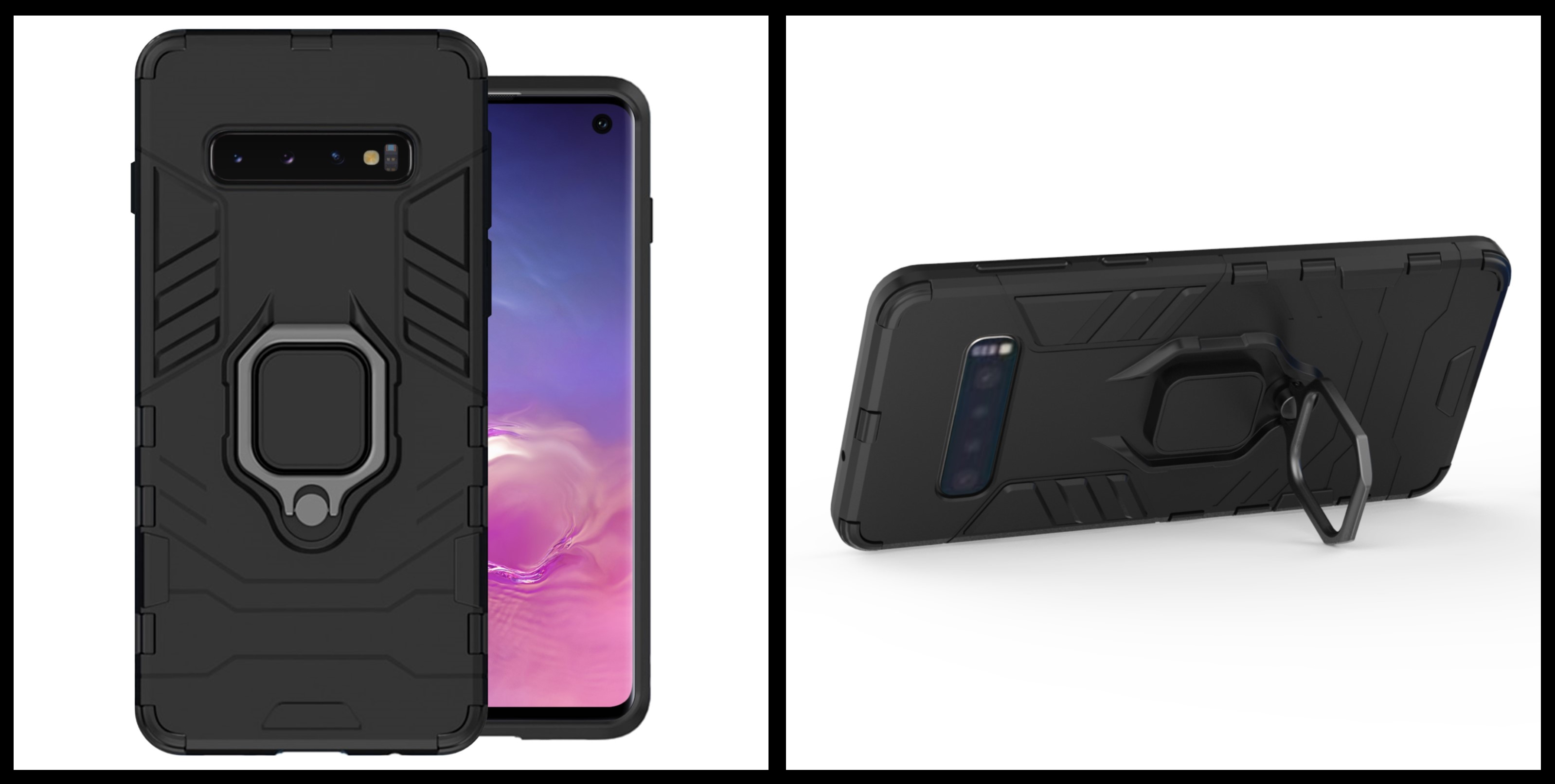noziroh tank samsung galaxy s10 cover case silicone military design shockproof black
