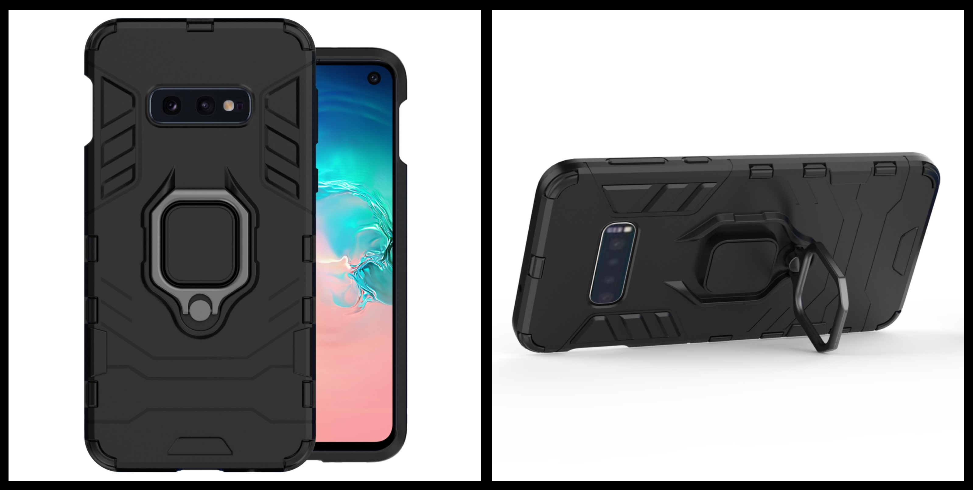 noziroh tank samsung galaxy s10e cover case silicone military design shockproof black
